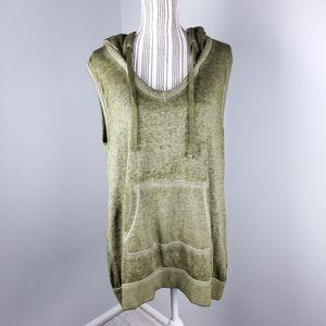 Abound green tank hoodie size M